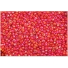 Seedbead 10/0 Opaque Medium Red Aurora Borealis
